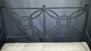 Solid Wrought Iron Patio Loveseat