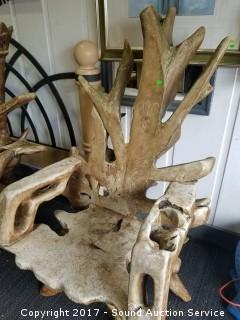 Teak Wood Root Rustic Chair