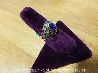 10k Gold & Sapphire 1972 Class Ring