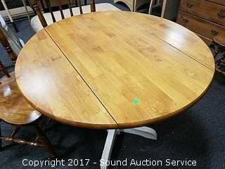 Nice Round Drop Leaf Dining Table