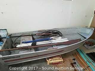 Gamefisher 10.5ft Aluminum Boat w/Oars
