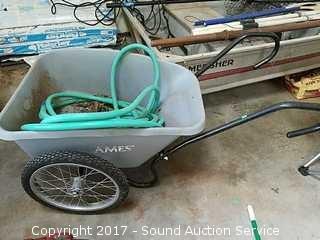 Ames Yard Cart, Wheelbarrow & Garden Hose