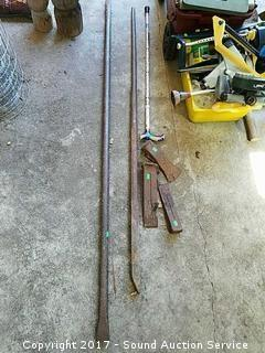 Pair of Steel Breaker Bars & Splitting Maul Heads