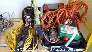 Carpenters Tool Box, Extension Cords & More