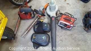 Chainsaw, Trimmer, Blower & Battery Charger
