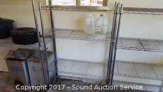 Metal Shelf Tech System w/Adjustable Shelves