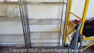 Metal Eagle Shelving Unit w/Adjustable Shelves