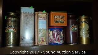 8 Liquor & Shortbread Tins