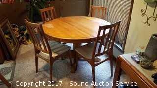Schionning & Elgaard Danish Teak Chairs & Oak Table