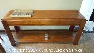 Oak Sofa/Hall Table & Runner