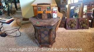 Wooden Woven Side Table/Chest & Trinket Box