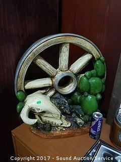Wagon Wheel Art Pottery Sculpture