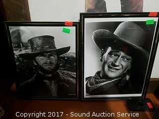 Clint Eastwood & John Wayne Black & White Photos