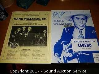Hank Williams Life to Legend Signed Bibliography