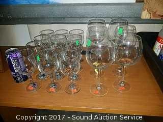 18 Crystal Wine Glass Stemware