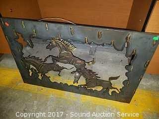 Metal Art Horse Wall Decor