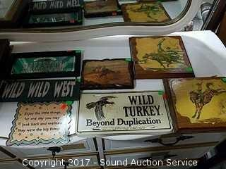 7 Western Themed Plaques & Signs
