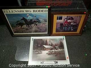 3 Western Themed Prints