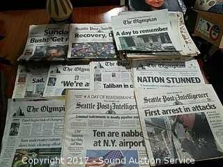 Collection of 9/11 Newspapers & Ephemera