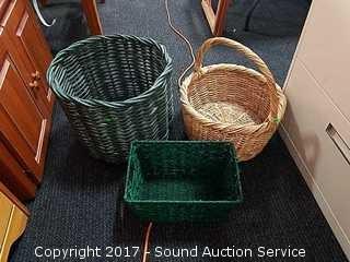6 Wicker Woven Baskets