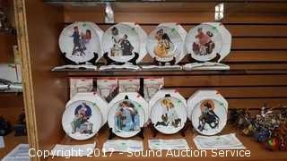 8 Norman Rockwell Young Love Series Plates
