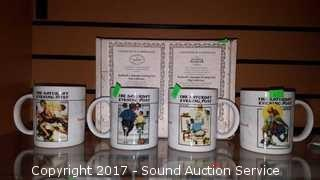 Norman Rockwells Saturday Evening Post Mug Set