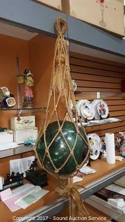 Antique Japanese Green Glass Fishing Float
