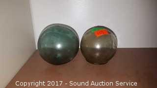 """6 Antique 2-1/4"""" Japanese Glass Fishing Floats"""