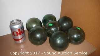 """(7) 4"""" Antique Japanese Glass Fishing Floats"""