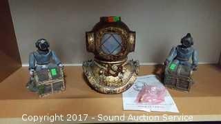 Divers Helmet Table Lamp & Figurines