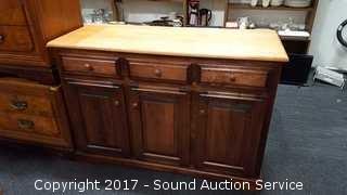 Woodcraft Pine 3 Drawer Buffet