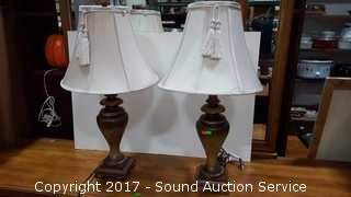 """Pair of Interior Accent Table Lamps 29"""""""