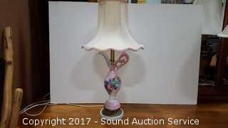 """Vtg. Porcelain Pitcher Repurposed Lamp 24"""""""
