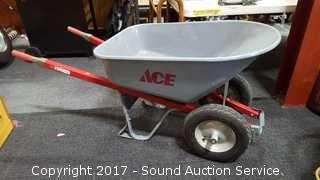 Ace Metal Dual Wheel Wheelbarrow