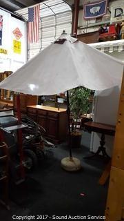 Hand Crank Southern Patio Umbrella w/Base
