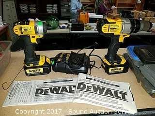 Dewalt 20V Max Impact Driver & Hammer Drill