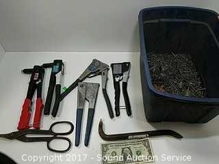 Collection of Pop Rivet Tools & Rivets
