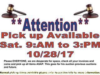 ATTN: Please P/U All Items ASAP, SAT P/U Available
