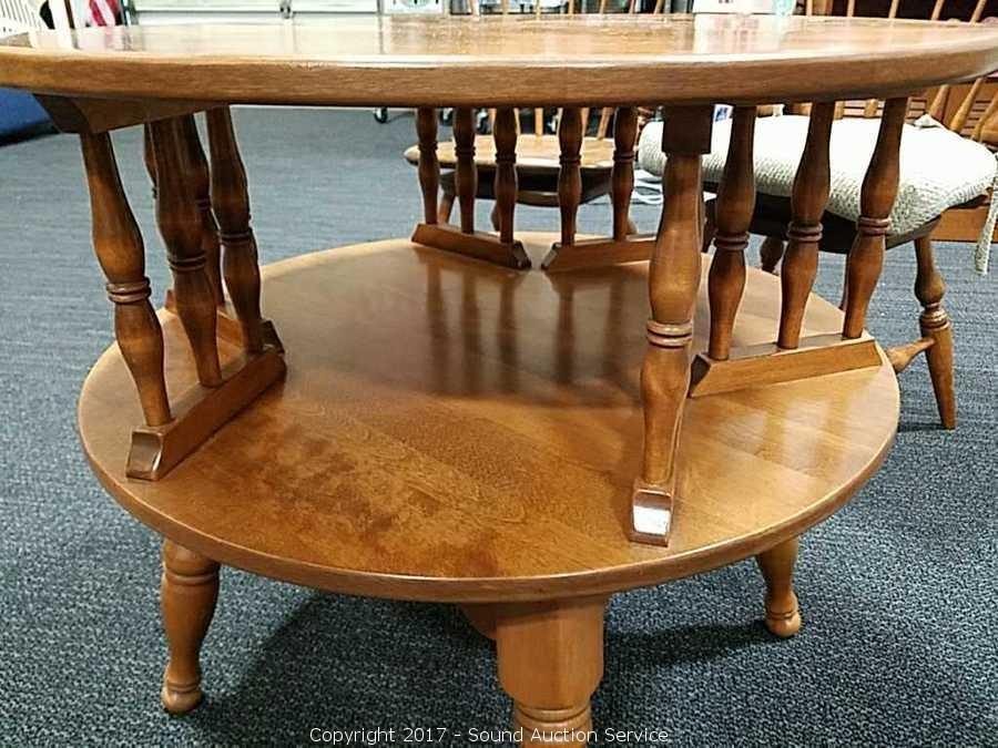 ... Ethan Allen Early American Swivel Top Side Table ...