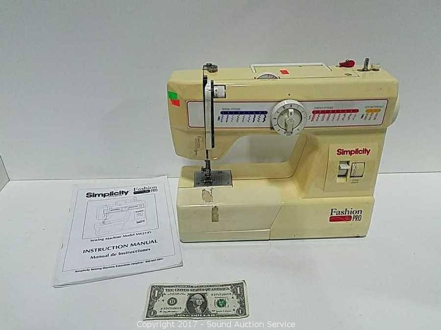 Sound Auction Service Auction 404040 Tools Coins Estate Simple Simplicity Fashion Pro Sewing Machine