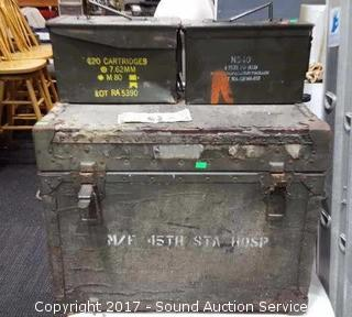 Pair of Ammo Cans & Trunk