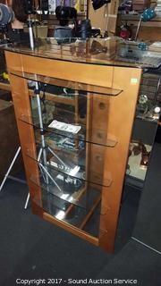 Nice Modern 5 Tier Glass Shelf Media Cabinet