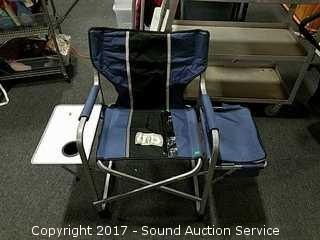 Folding Camping Chair w/Attached Table & Cooler