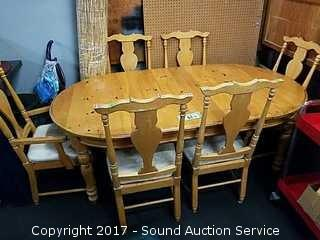 Dining Table w/6 Chairs & 2 Leaves