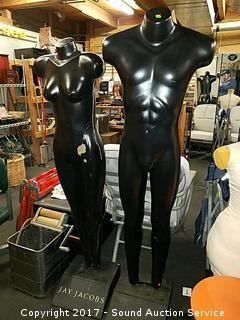 Full Size Male & Female Mannequins w/J Jacobs Logo