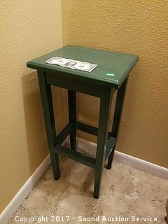 Adorable Green Hand Painted Wooden Plant Stand