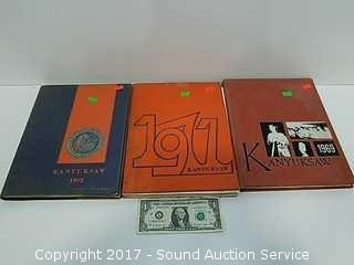 (3) Vtg. 1969-72 Kanyuksaw Yearbooks