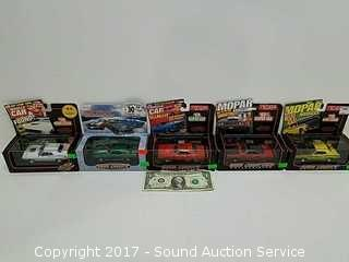 (5) Road Champs Die Cast Model Sports Cars