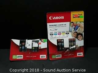 2 Packs of Canon Ink Cartridges