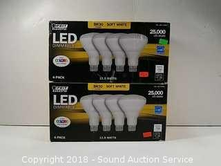(7) LED Dimmable Soft White Flood Light Bulbs